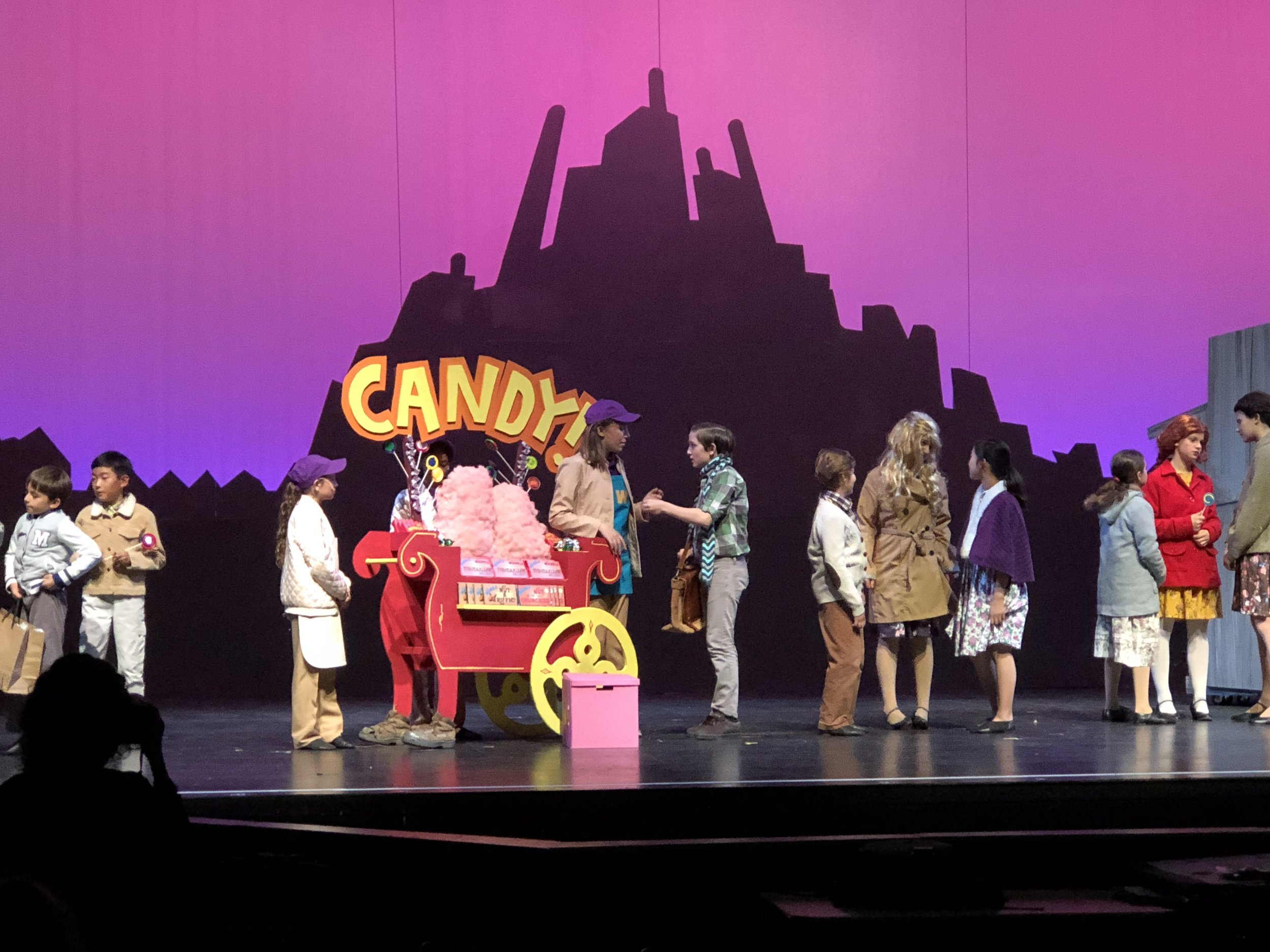 Production still showing candy cart