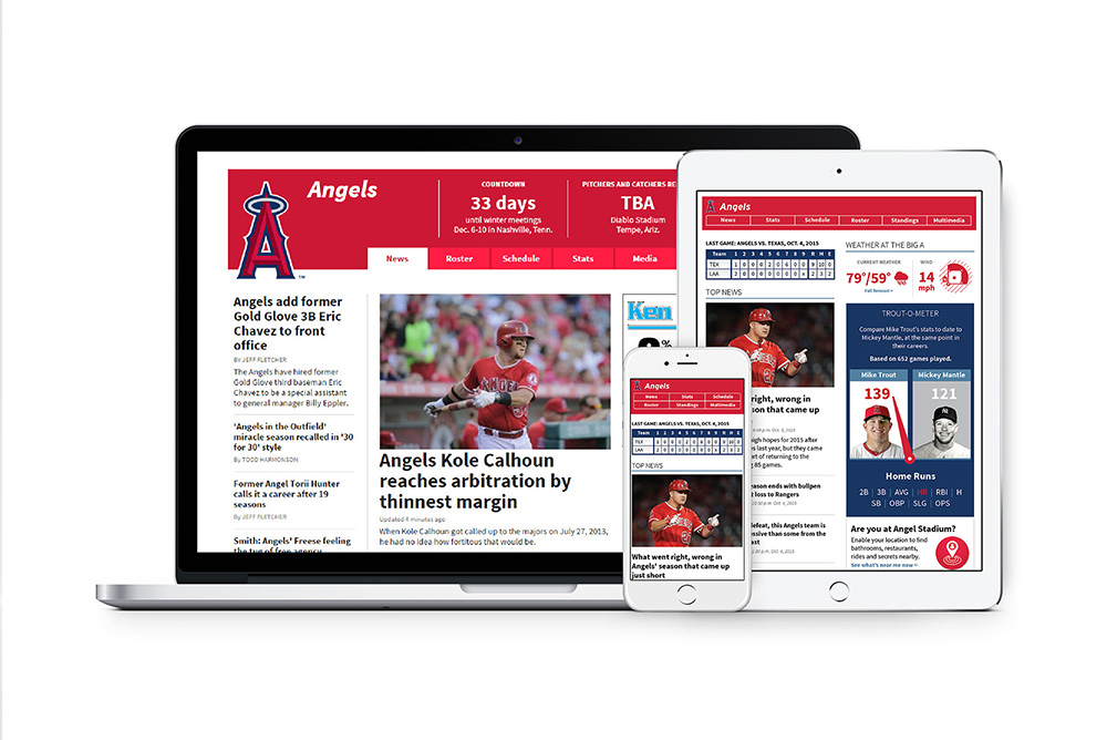 Angels desktop and mobile sites
