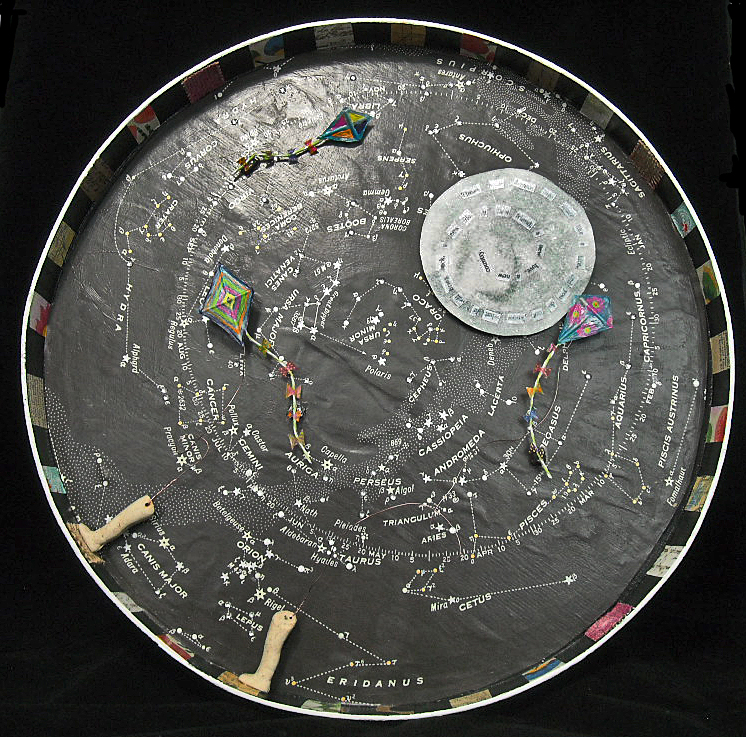 """""""Throw Your Dreams Into Space Like a Kite"""" 15"""" diameter"""
