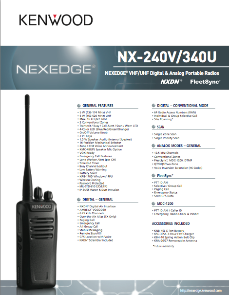 Introducing Kenwood NX-240