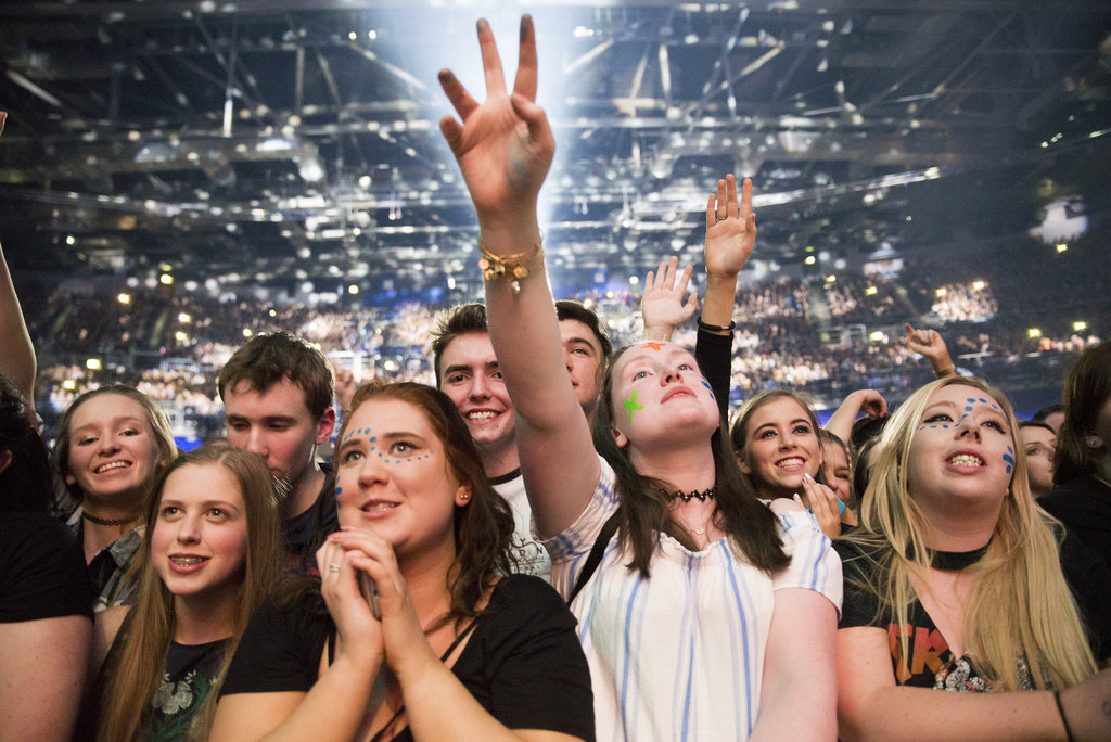 The Crowd at Ed Sheeran in the 3Arena Dublin, 2017