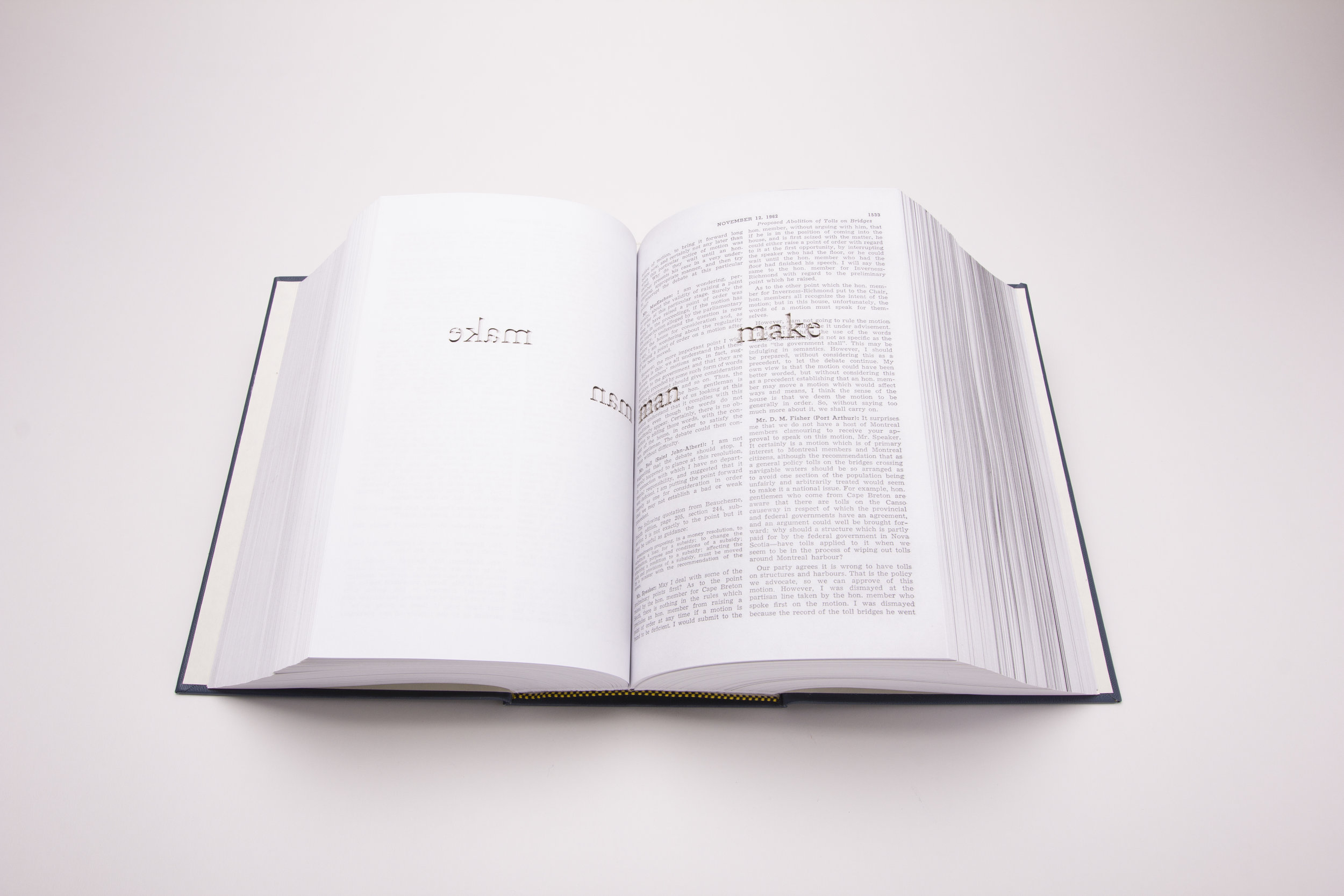 House of Commons Debates, First Session, Twenty-Fifth Parliament, Volumes II (2018).   Photo by Cory Ransom.