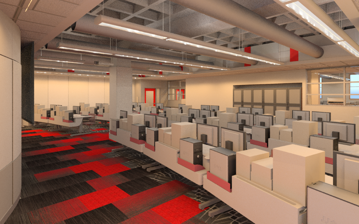 Rendering from Front of Classroom 1