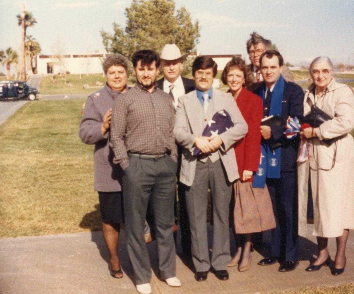 Family at memorial service in Las Vegas