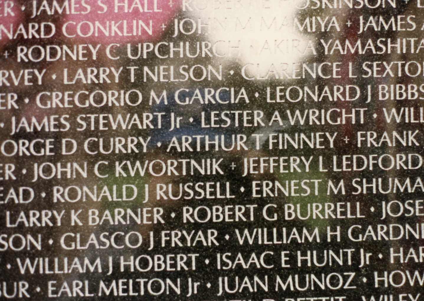 My grandfather's name on the Vietnam Memorial by Maya Lin