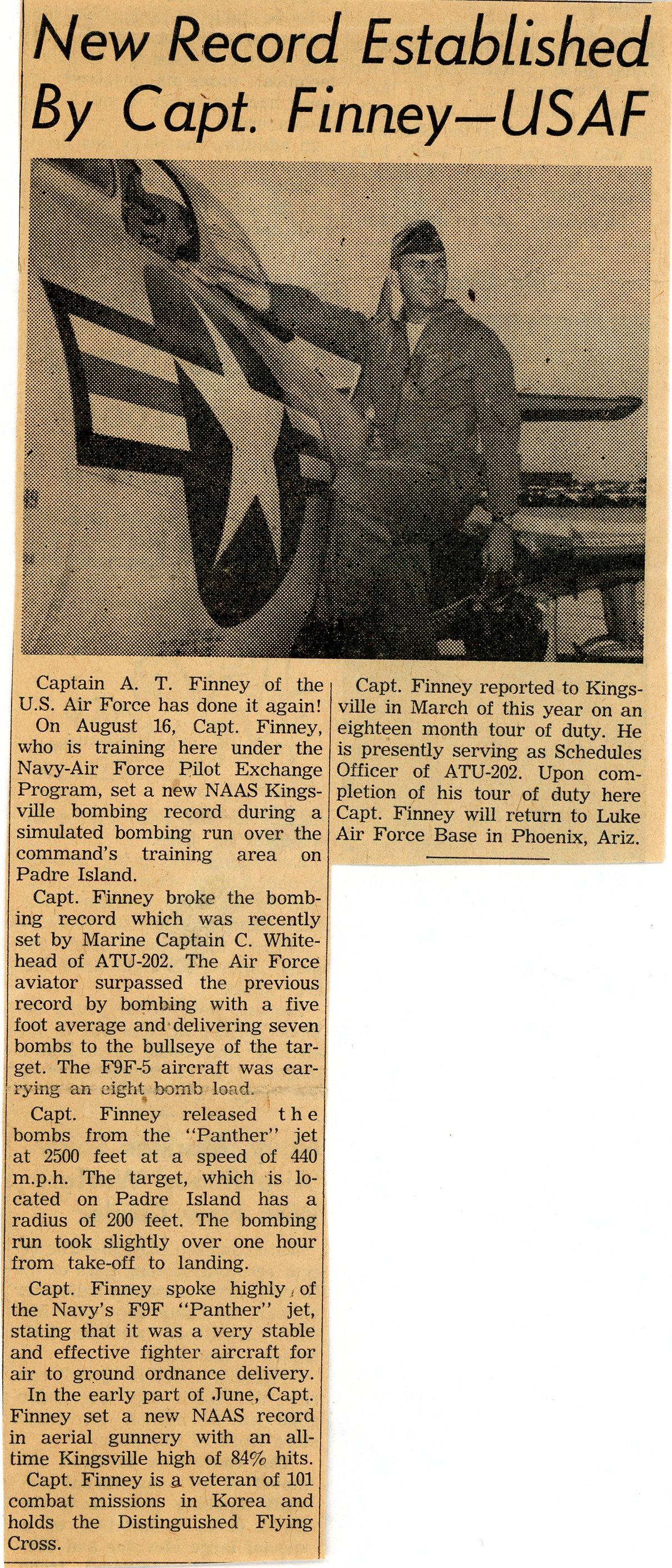 Published in the Flying K, Kingsville, TX September 4, 1956