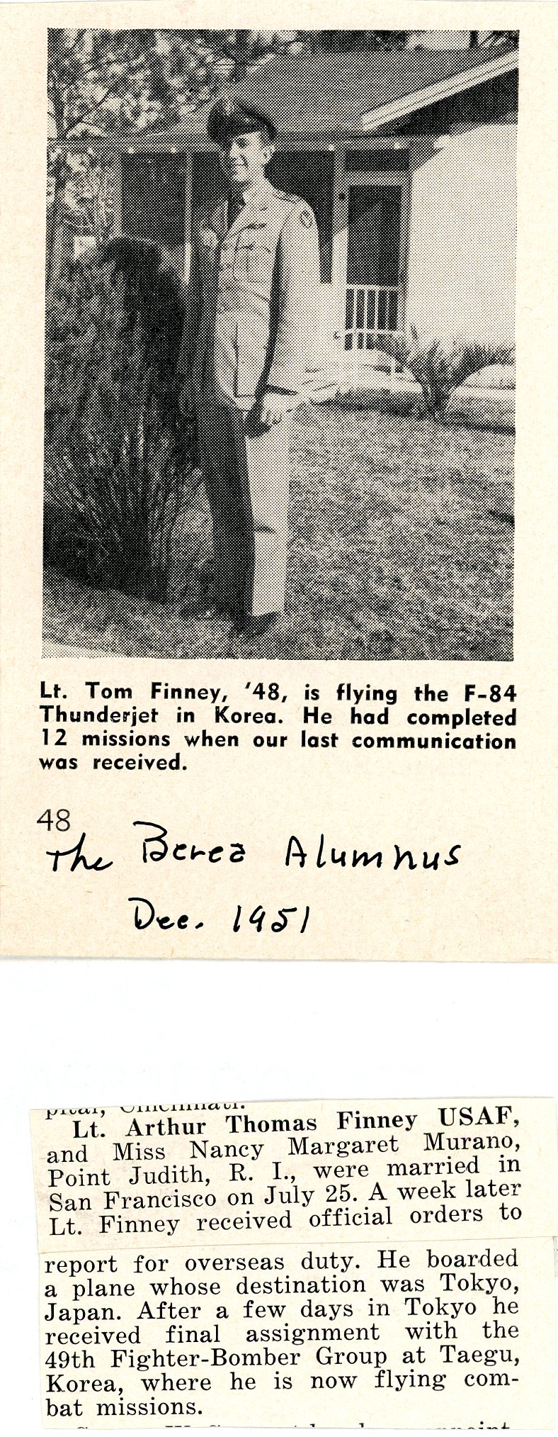 Published in The Berea Alumnus, December 1951