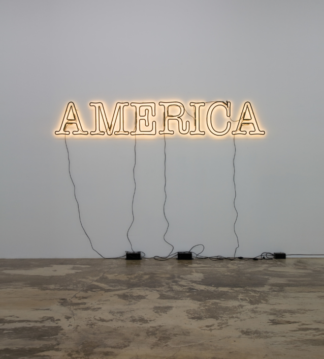 Glenn Ligon, America, 2008 neon and paint, ed. of 1 plus AP, Courtesy of Rubell Family Collection