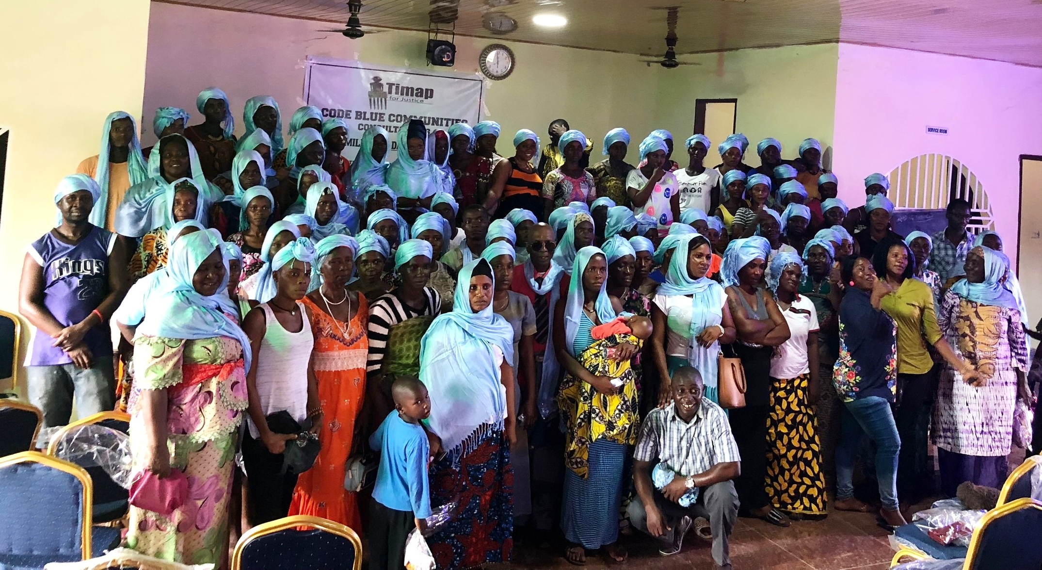 """Participants of AIDS-Free World and Timap for Justice's first """"Community Consultation"""" at Mile 91, Sierra Leone.  (Photo: ©AIDS-Free World)"""