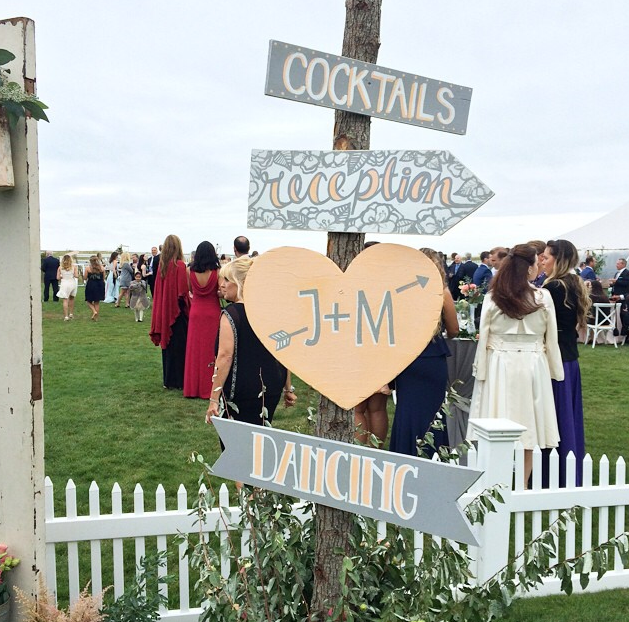 Wooden directional signs