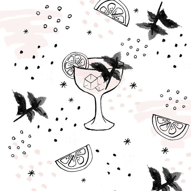 Reposting this again without the spelling error! Thanks so much to @plymouthginus @belfrynyc and @obviouslysocial for the great happy hour last week! #illustration #gin #cocktails #summerofgin #plymouthgin #bar #nycnightlife #happyhour