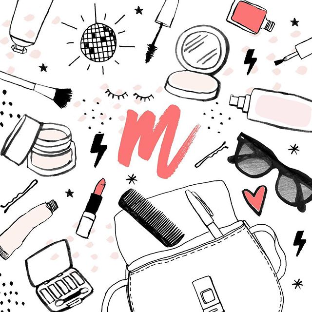 SO excited to share a sneak peek at some illustrations for Mia MiA Beauty (@miamiabeauty ) -a phone app for saving and sharing your fave looks. The app launches soon and you can sign up to get notified at miamiabeauty.com when it is available for download !  #illustration #beauty #getgorgeous #miamiabeauty #makeup #skinisin #app #download #handbag #lipstick #eyes