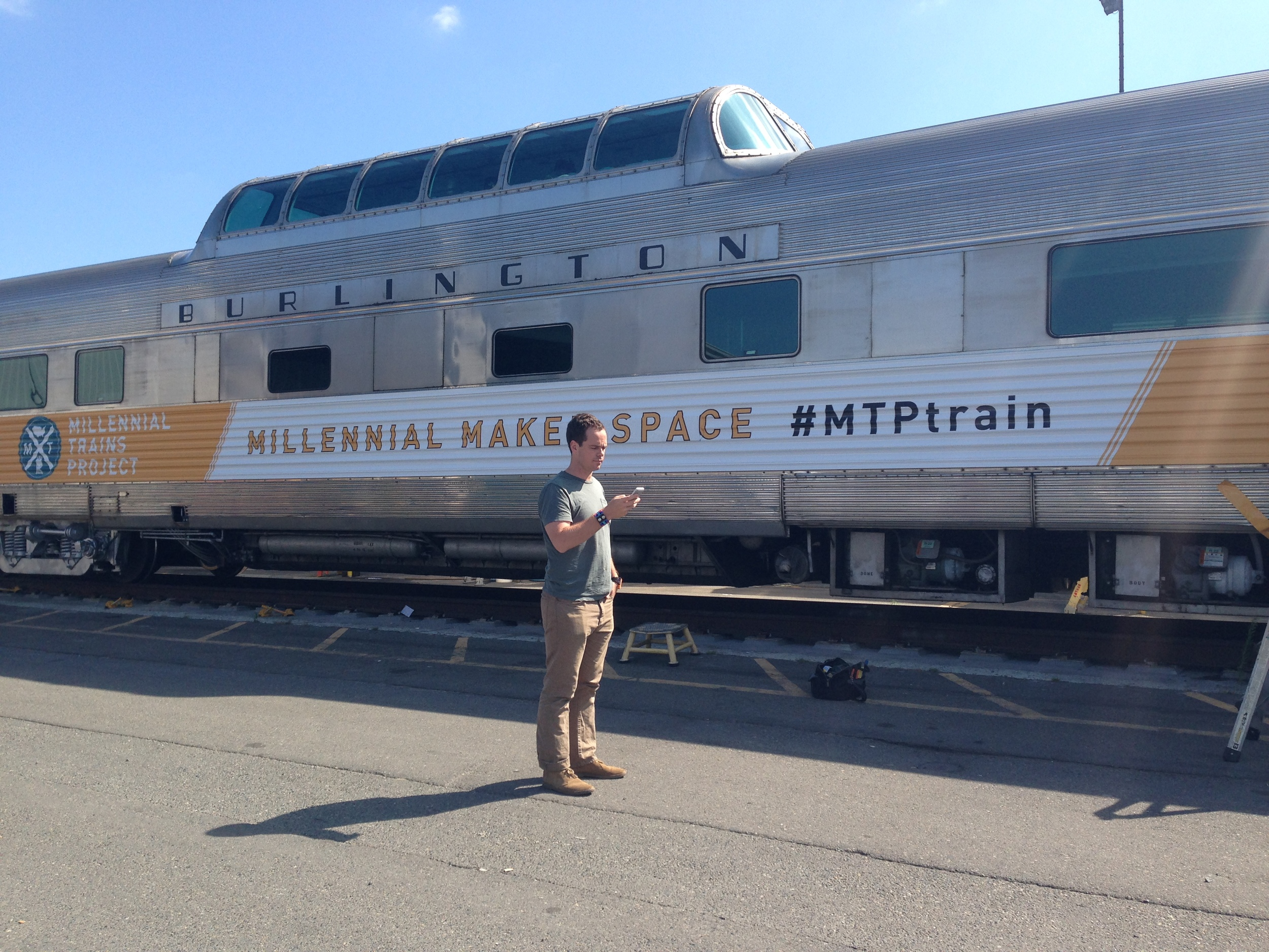 8/8/14  | Founder, Patrick Dowd outside our train in Seattle, WA