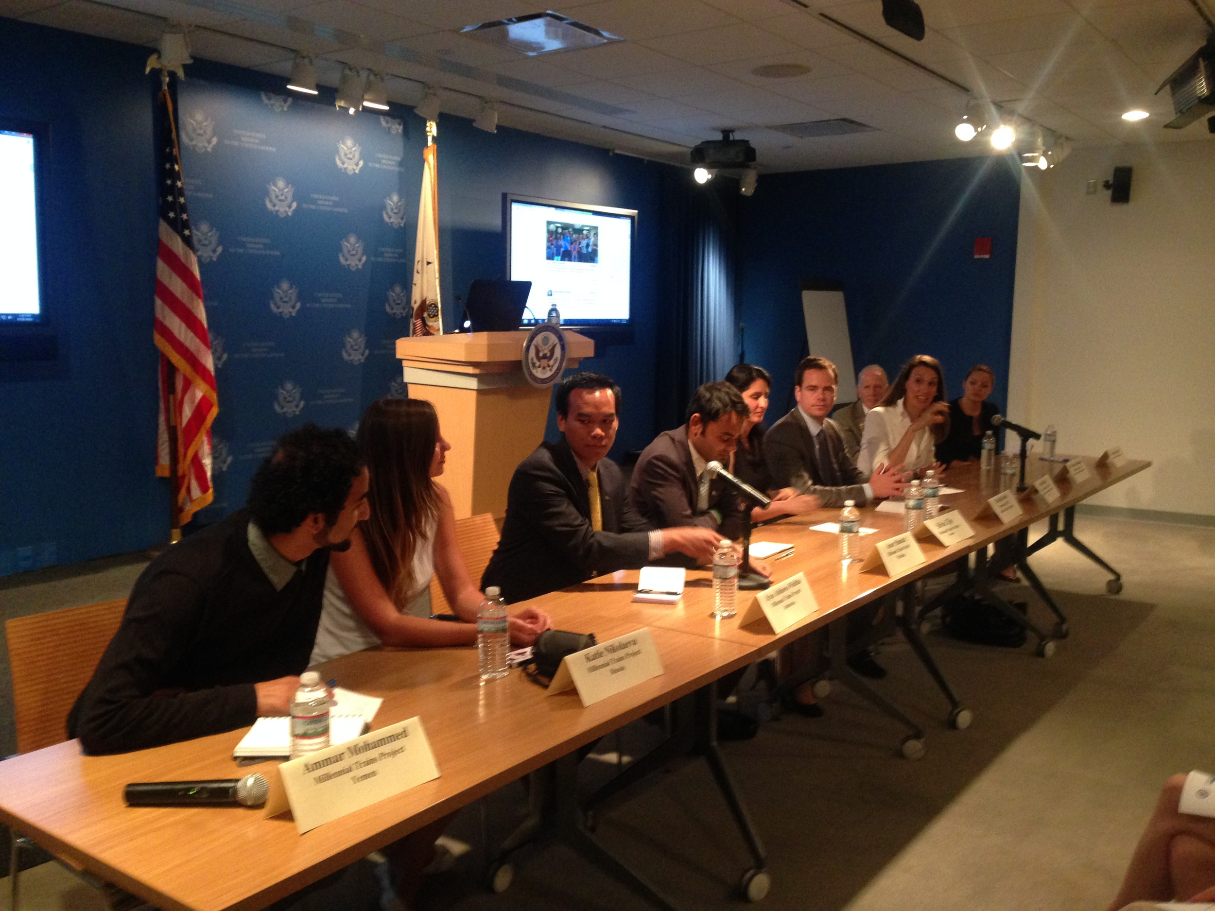 "8/18/14  | Our five foreign Fulbright scholar participants -- from Yemen, Russia, Indonesia, Colombia, and Pakistan -- share their MTP experiences and perspectives on the ""New American Dream"" at the US Mission to the United Nations."