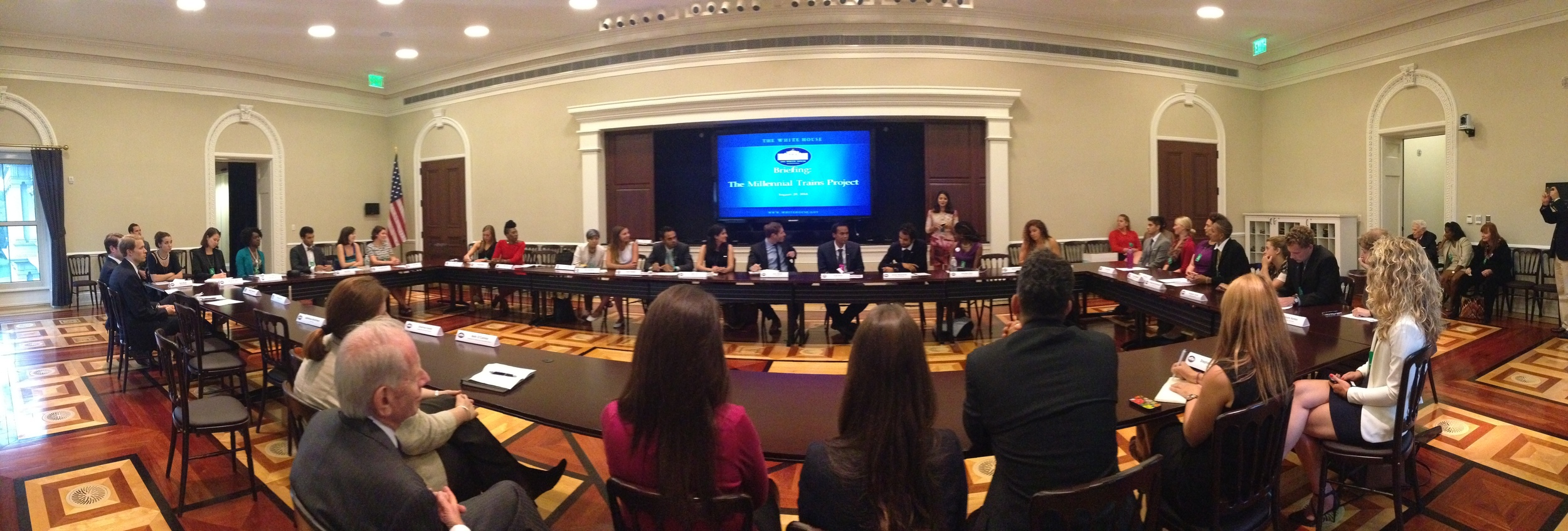 8/20/14  | Our journey concluded with an event at the White House where participants shared their experience to millennial White House staffers.