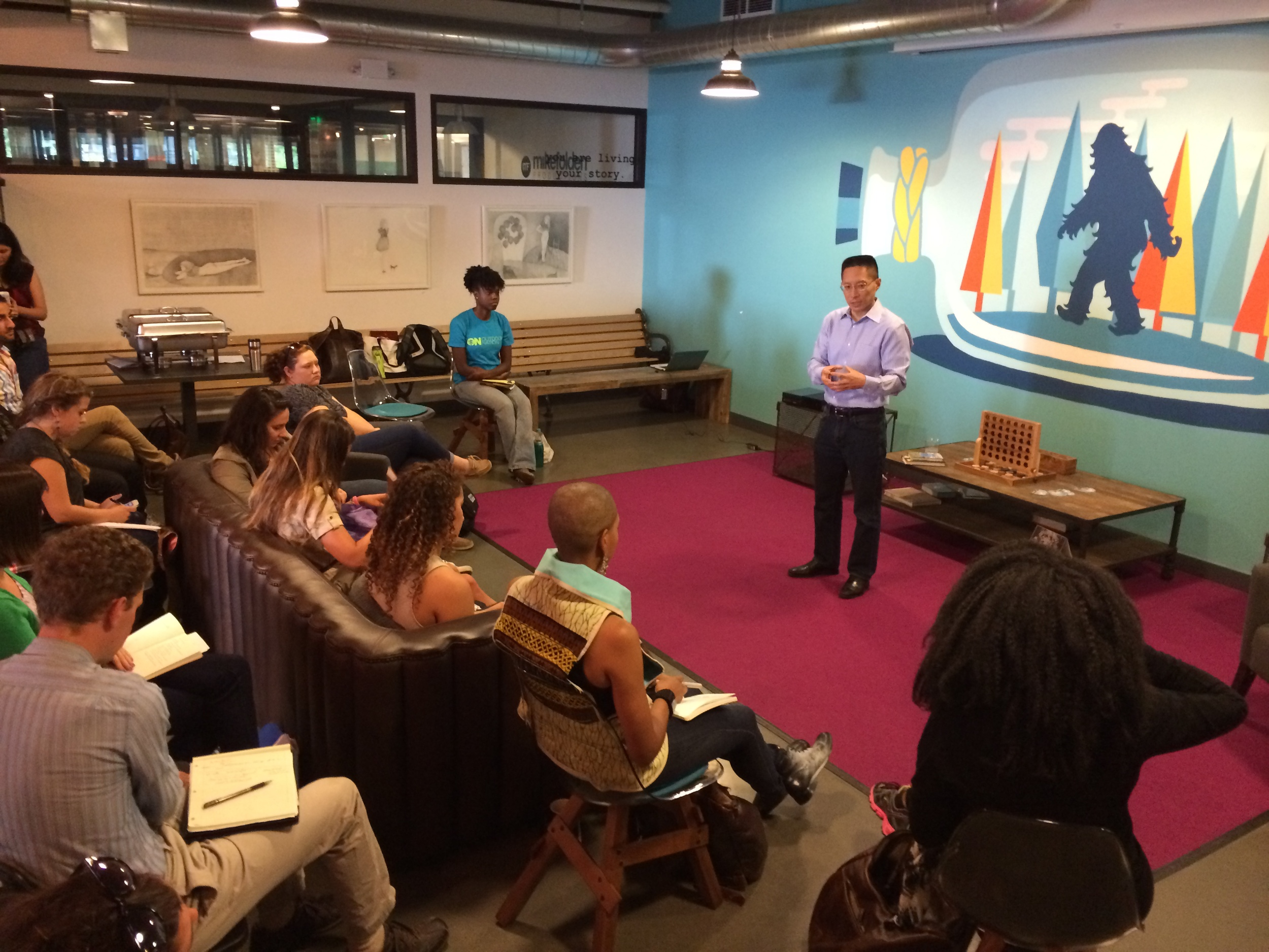 8/8/14  |   Eric Liu, Founder of  Citizen University  talks to our group at the  WeWork  in Seattle.