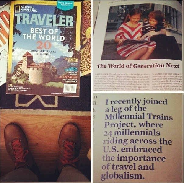 12/14/13  | Honored to receive this amazing recognition in the Editor's Note for  National Geographic Traveler 's 30th anniversary issue, which includes the magazine's top 20 travel recommendations for 2014 -- on newsstands now!