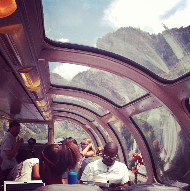 8/10/13  | Passing through Glenwood Canyon in the Colorado Rockies.