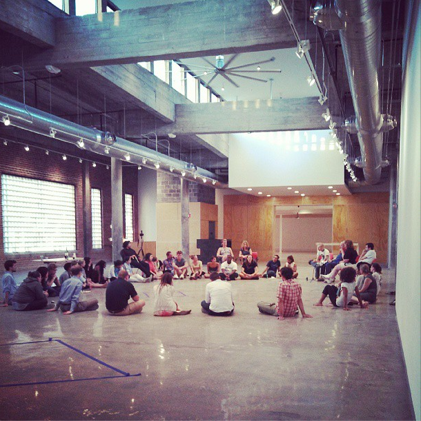 8/13/13  | Our community fathers for a group discussion at Kaneko, an amazing space for art and innovation in Omaha, NE.