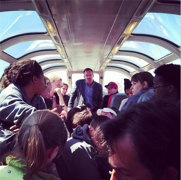 8/9/14  | MTP mentor Eric Kessler leads our first on-train discussion.