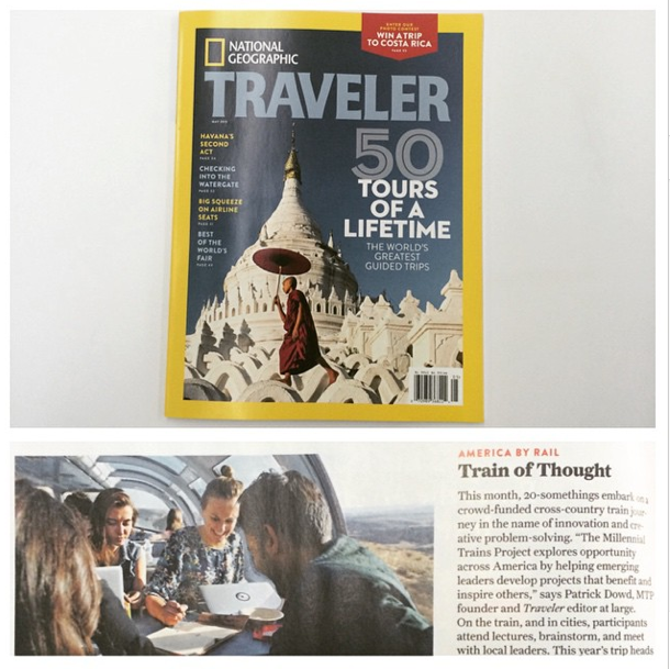 4/10/15  | We're thrilled to be featured in the latest issue of  National Geographic Traveler !