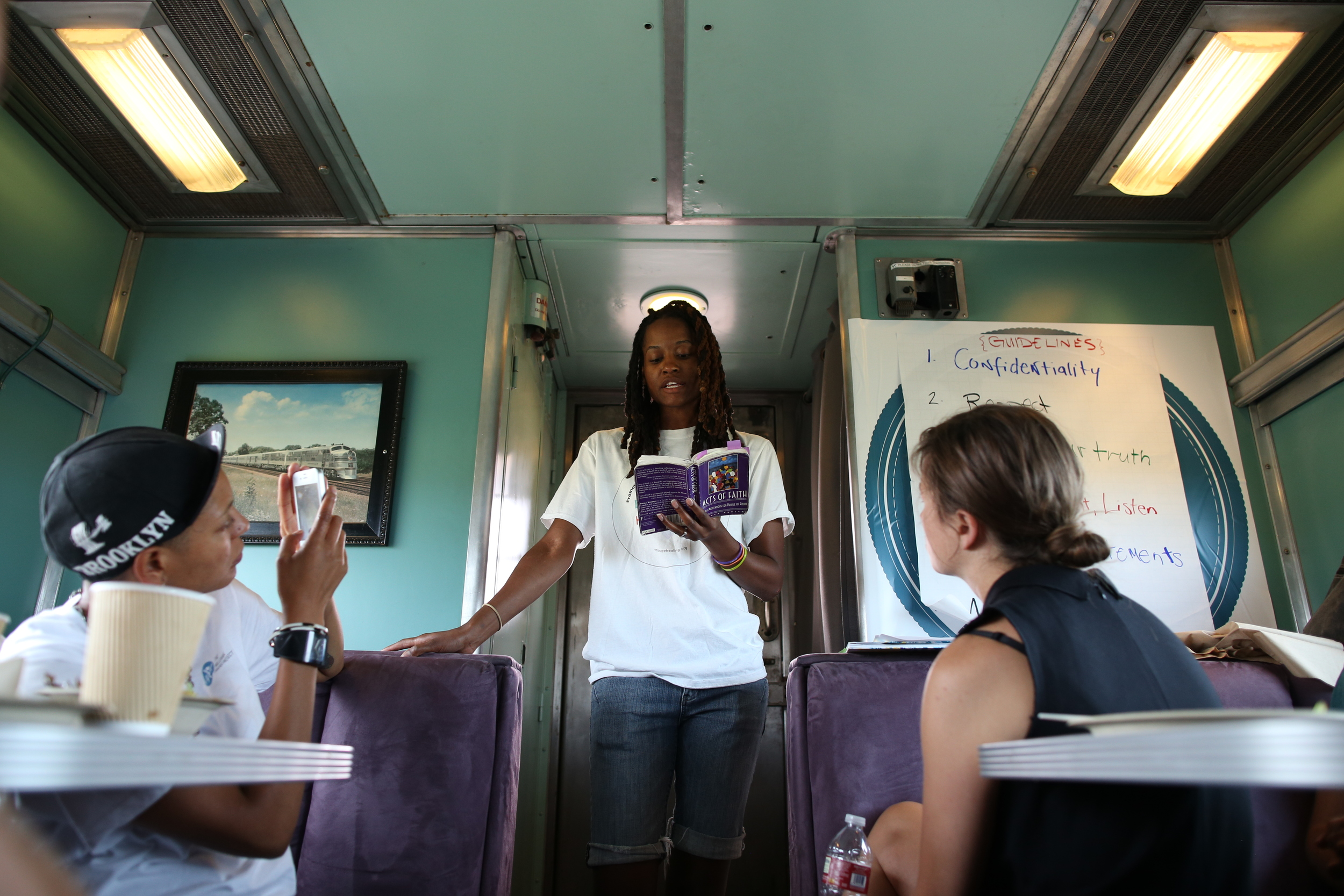 8/11/14  | While on the train, our community was shaken by the news of Michael Brown's shooting in Ferguson, MO. MTP participant Acasia Olson, whose project focused on racial healing, led our community in a challenging but important conversation about race in America. (Credit: Tyler Metcalfe, National Geographic Travel)