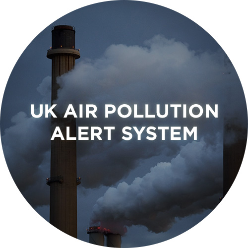 Uk air pollution alert system