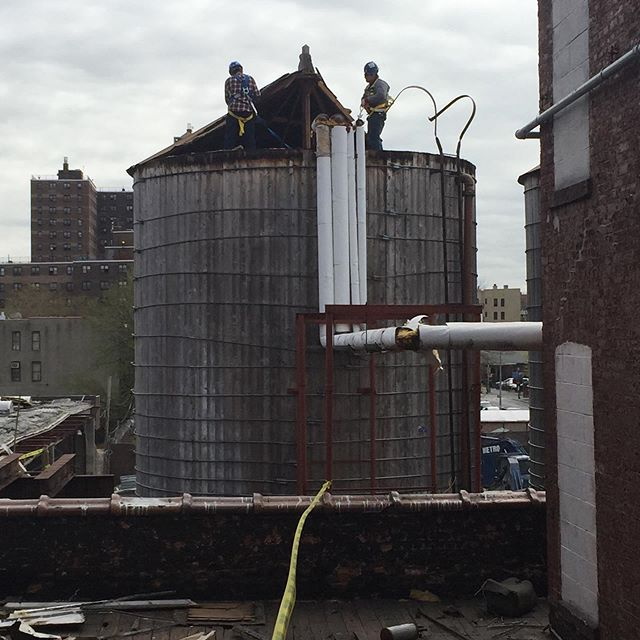 a little throwback to the odd journey of the cascade laundry water tanks on myrtle ave in brooklyn. @jeffreycayle @sci_builders @sheltonstudiosinc