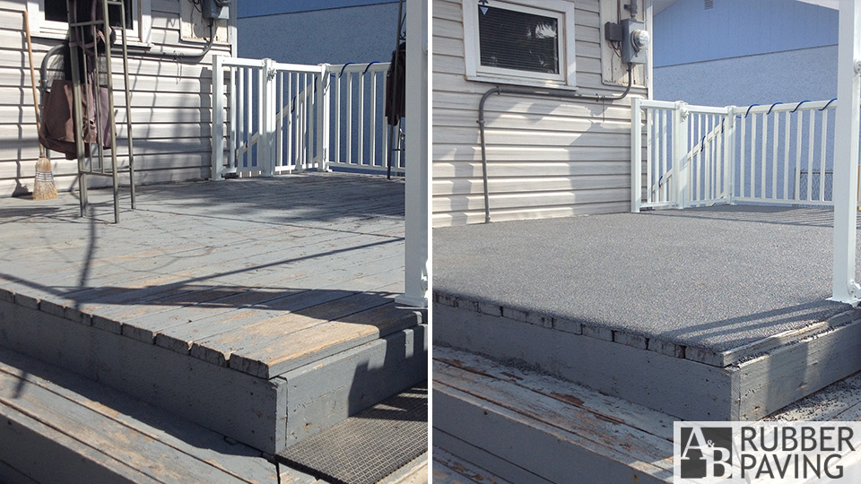 Deck - Grey - Before/After