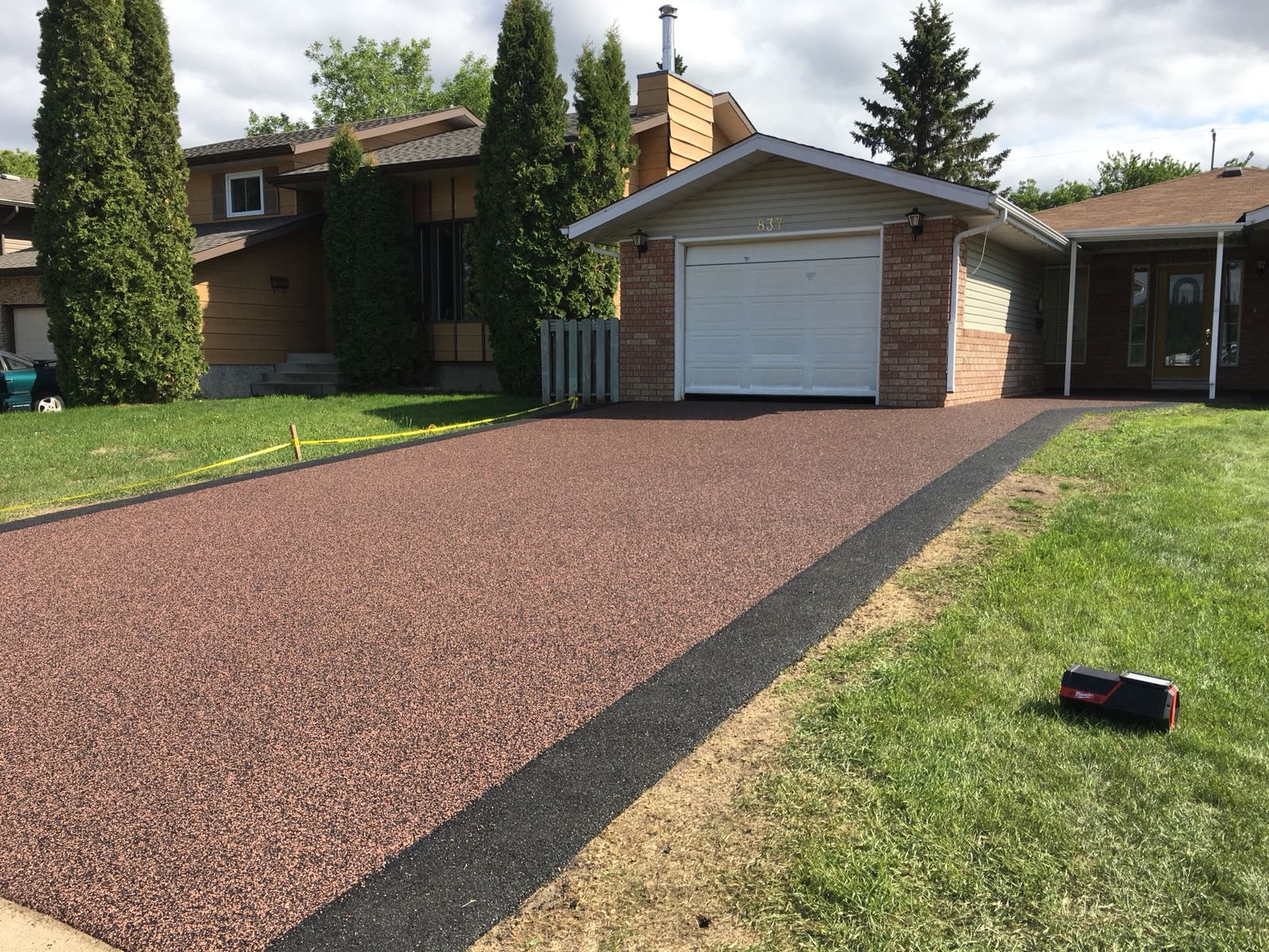 Installation is quick and convenient - When you install a new concrete driveway, there is a lengthy process involved. You have to demolish your old surface, haul it away, pour the new concrete and then wait days for it to dry. Since you can install rubber paving right over your old driveway you'll save both time and money. Plus, installation only takes one day and just 24 hours to fully cure, making your driveway, garage, deck or sidewalk fully usable in just two days.
