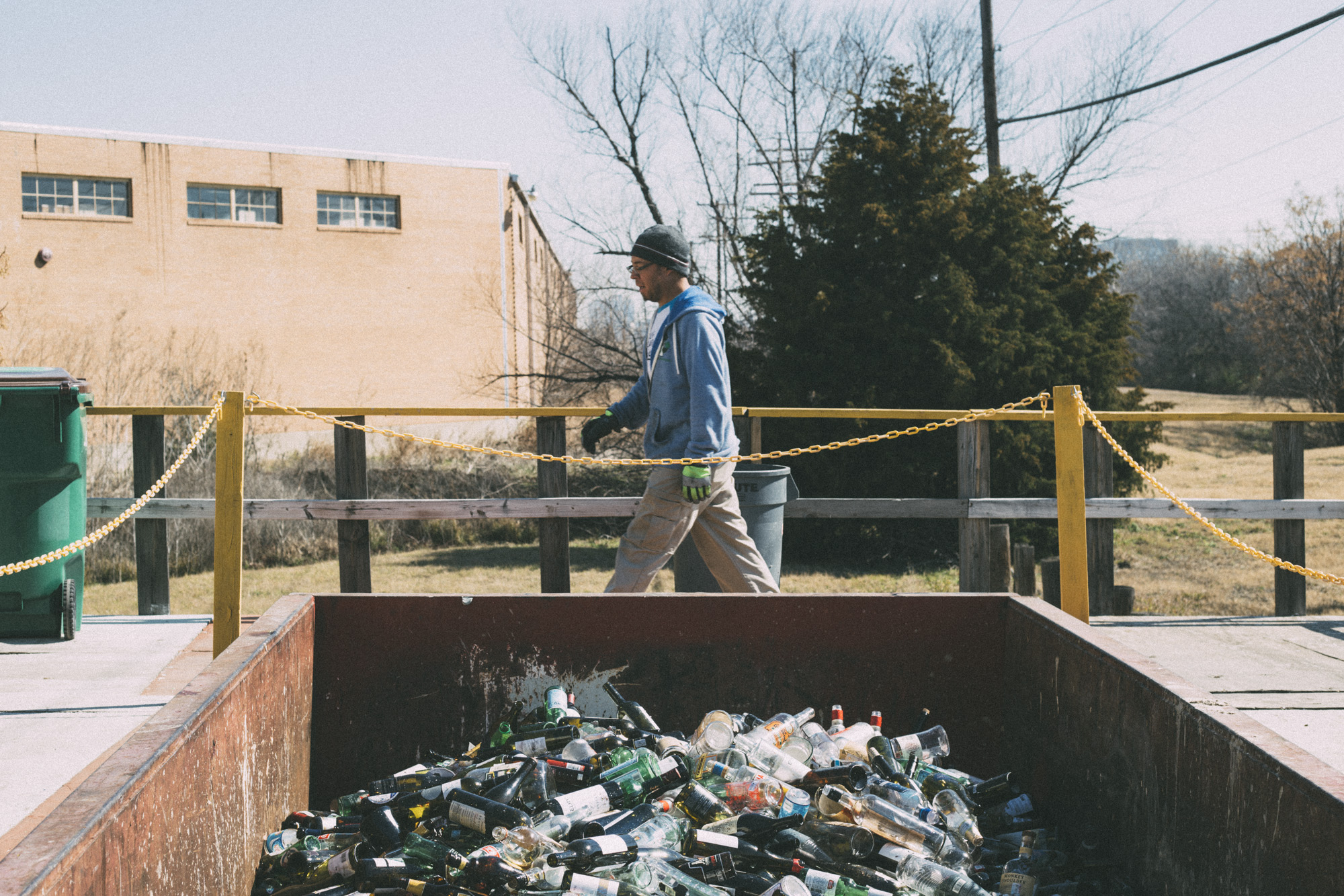 WHAT'S IN IT FOR THE BARS? Landfilling glass bottles is cheaper and easier than recycling them, which requires employee training, increased space demands (for separate containers), and additional pick-up fees. Recycling can feel good, but is that enough?