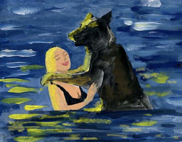 Sonya and Ike - Ashfield Lake. 'Swimming'