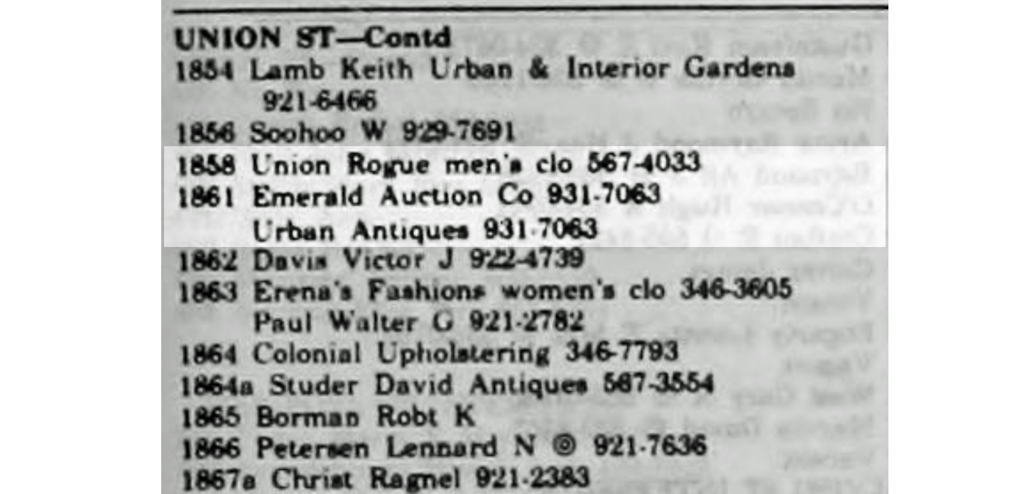 1972 City Directory