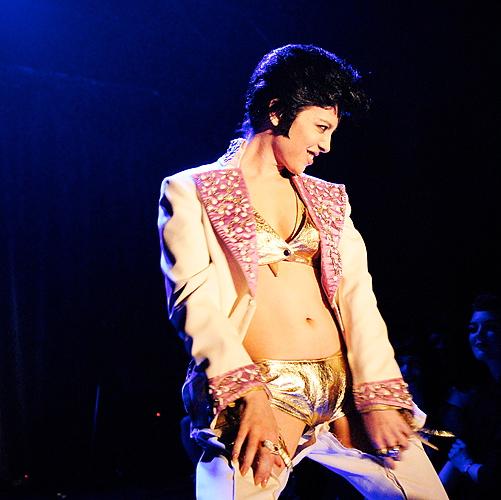 stripper Elvis act by Diamondback Annie - photo by Benjamin Zurbriggen
