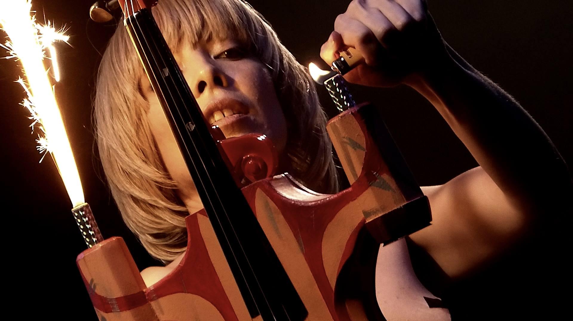 Diamondback Annie - Skywalker OG by Kevin Campbell - lighting the Landshredder violin.jpg