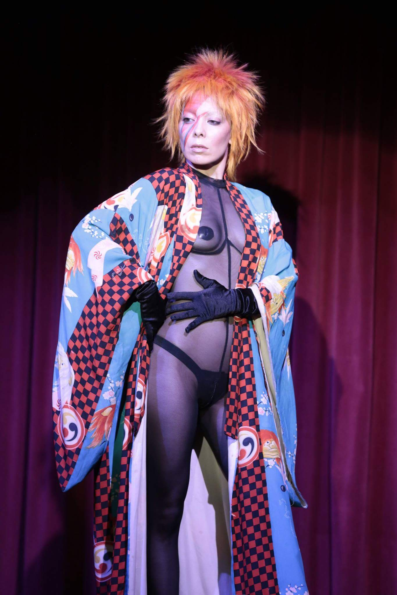 Diamondback performing her Aladdin Sane act at the Brookledge Theater. Photo by Mark Berry (@mondovisions)
