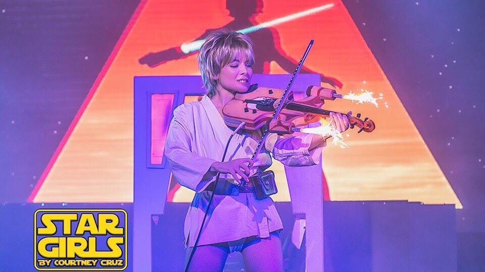 Diamondback Annie Star Wars tribute with Land Speeder violin