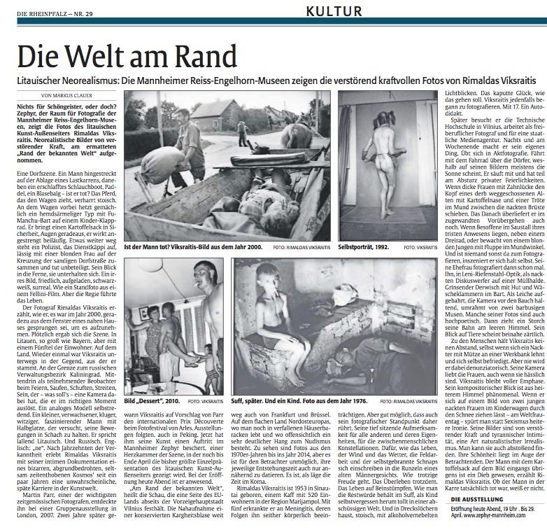 03.03.2018  Die Rheinlandpfalz  Die Welt am Rand
