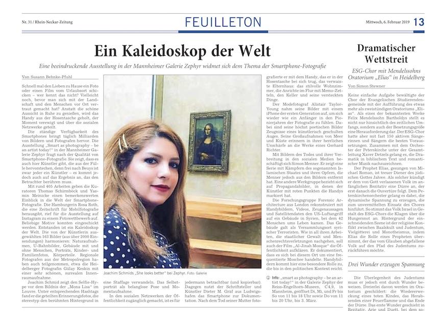 06.02.2019  Rhein-Neckar-Zeitung : Susann Behnke-Pfuhl: Ein Kaleidoskop der Welt