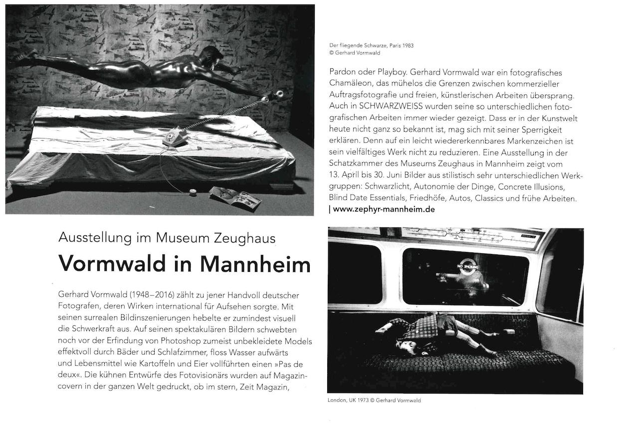 Mai 2019 Nr. 129  Schwarzweiss  Vormwald in Mannheim