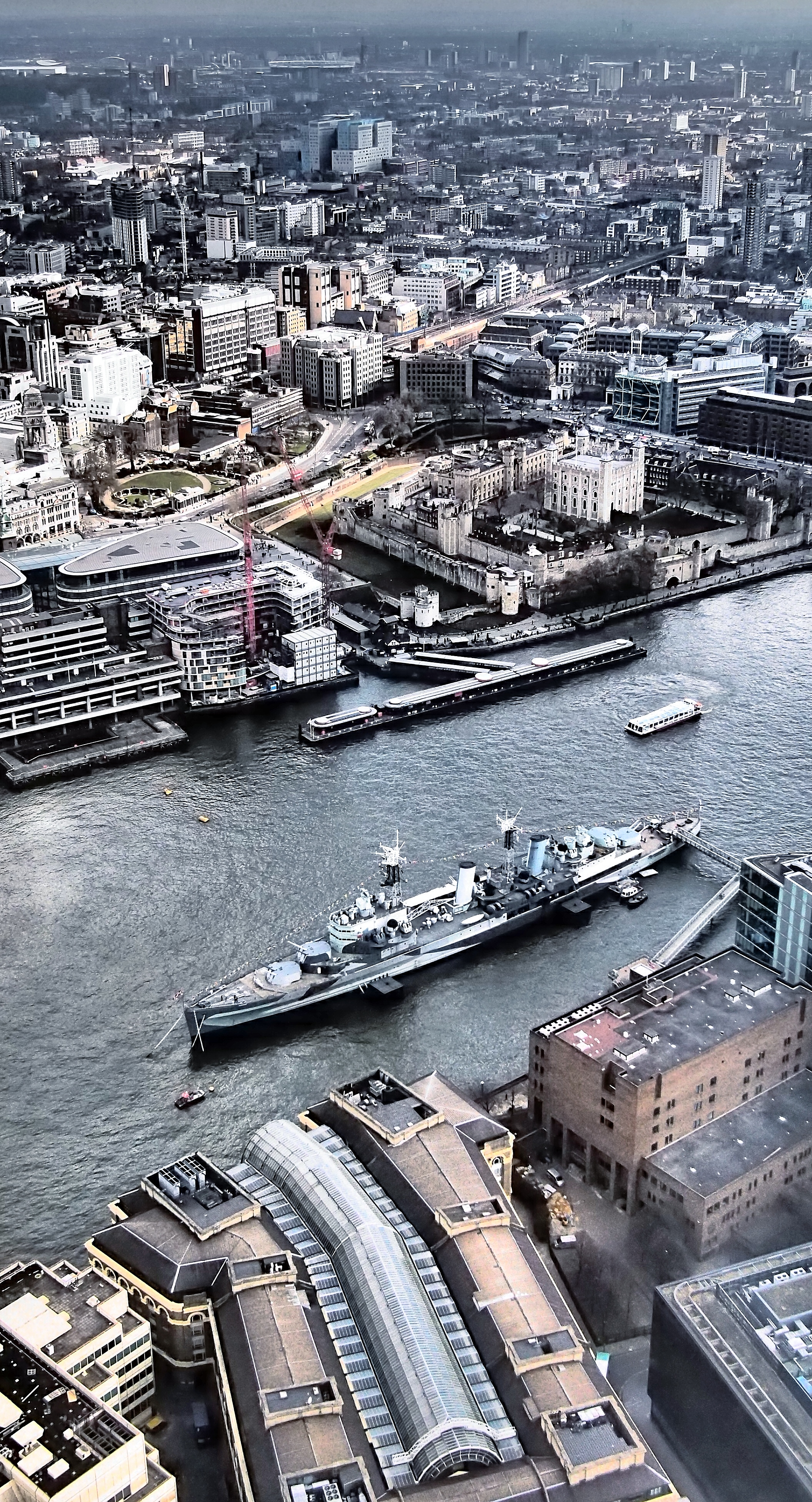 Tower of London, HMS 'Belfast', EP-3 Lumix 20mm f1.7   ​  ​ ​