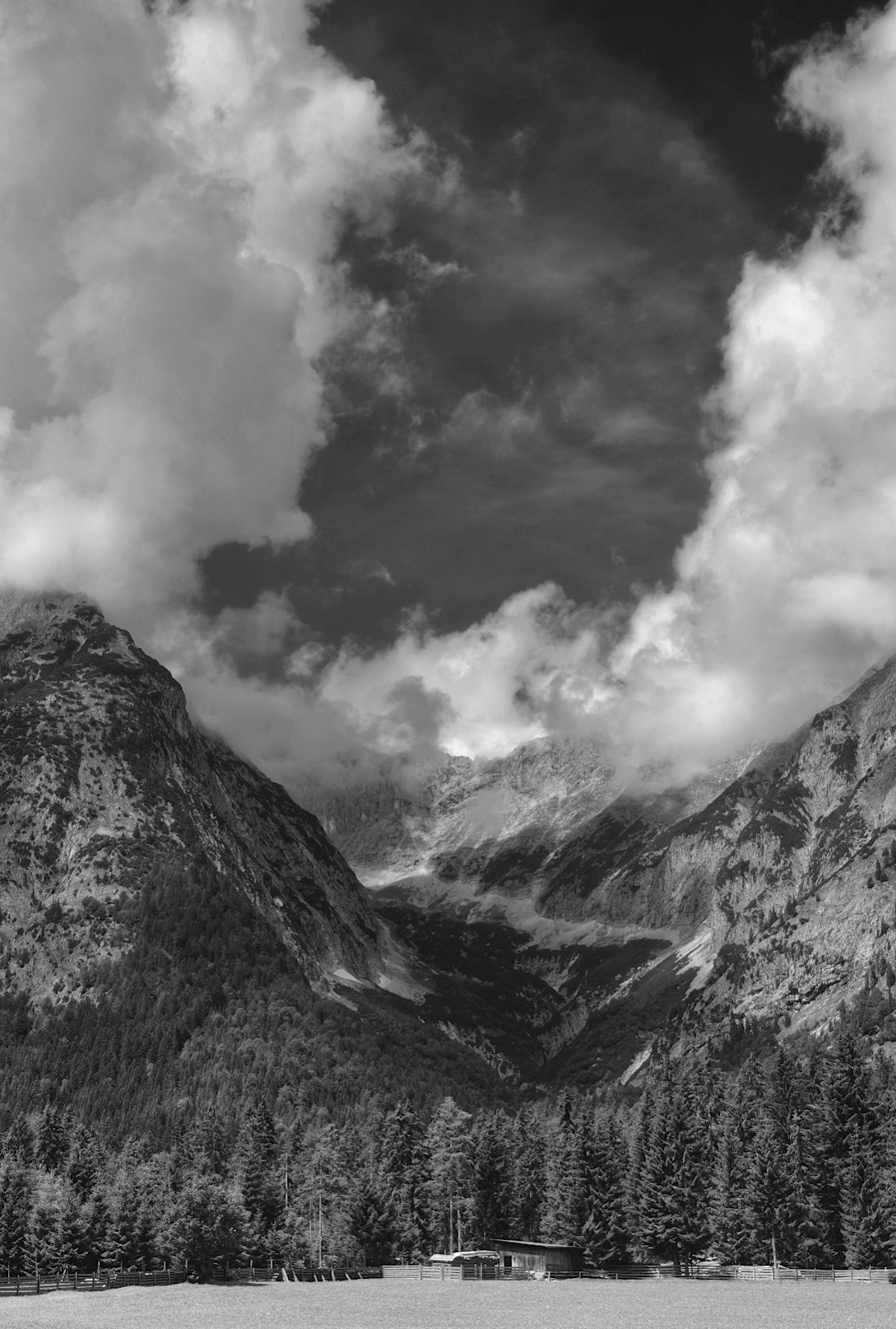 between Mittenwald and Seefeld, Austria