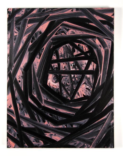 Untitled (2009)  Oil on enamel on panel.   9x12 in
