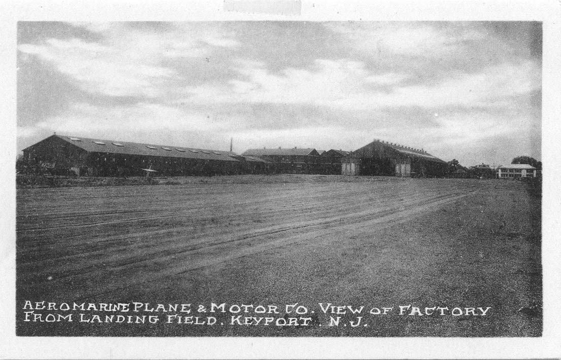 Aeromarine Plane & Motor Co. of Factory From Landing Field, Keyport, N. J. b&w.JPG