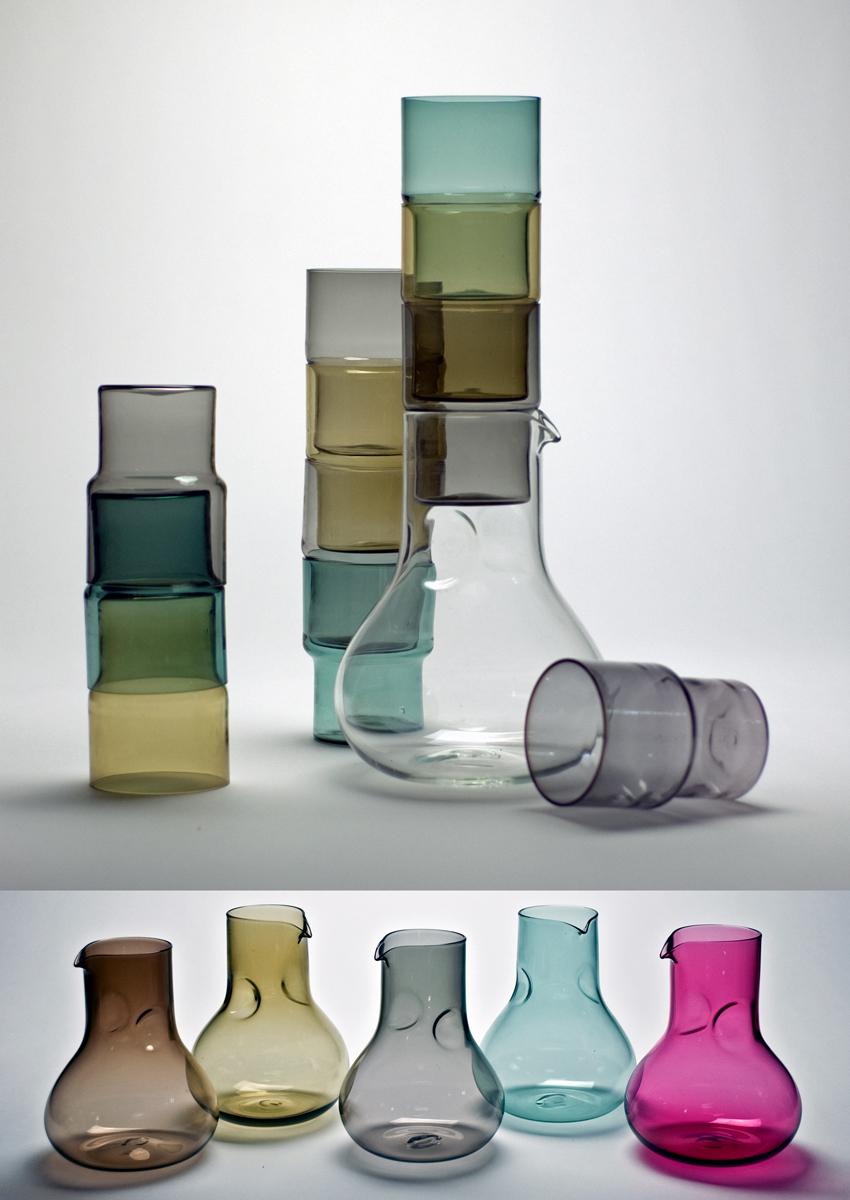 lunar decanter/stacks glasses