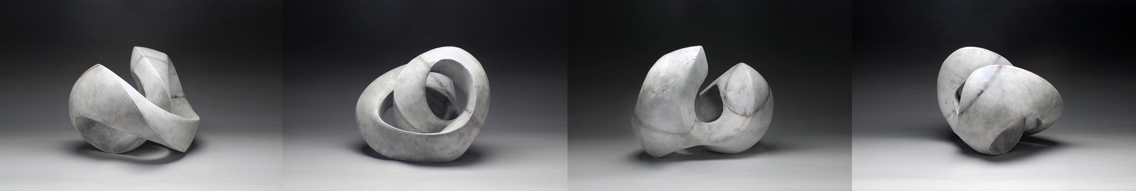 Recoil Series (white on white glaze) 2015