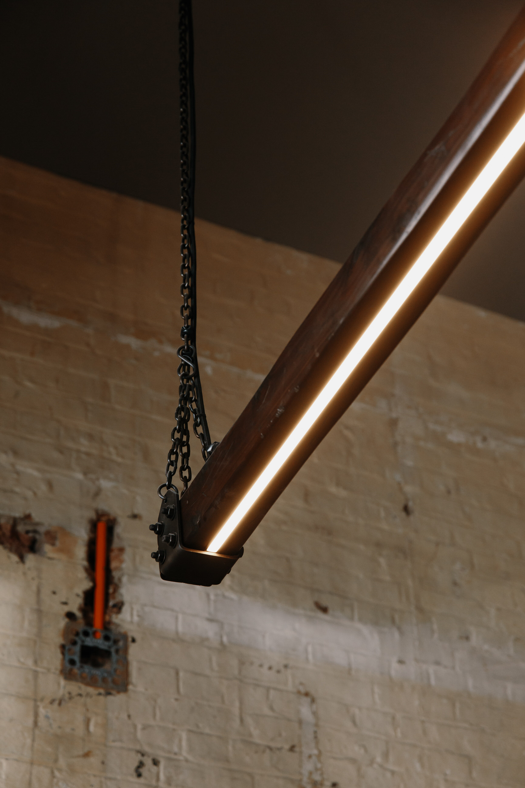 Timber Beam LED Linear Pendant Light