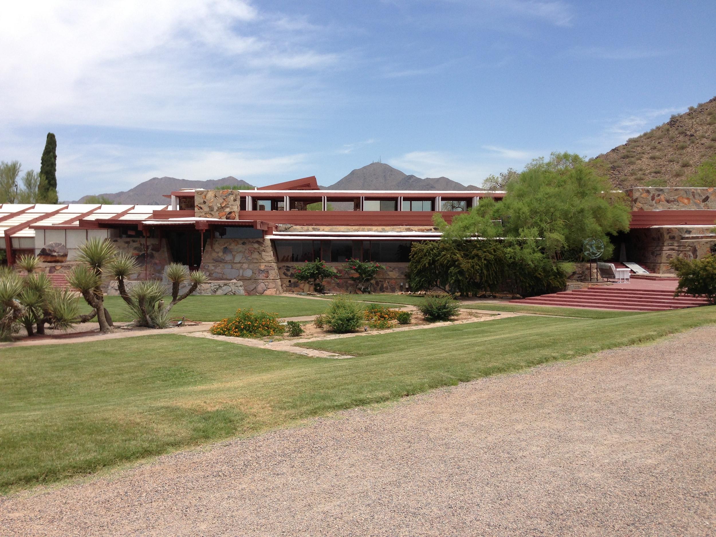 Photo taken at Frank Lloyd Wright's Taliesien West in Scottsdale, AZ on June 12, 2013.