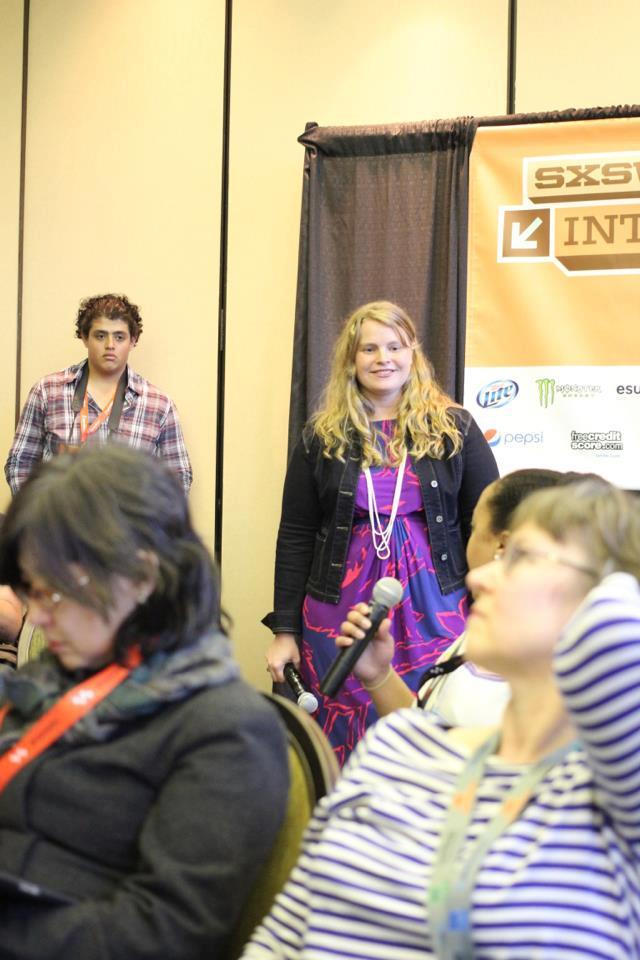 Facilitating the conversation at SXSW 2013. Photo credit:  Evan Carroll