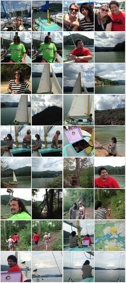Sailing with John and Maia.